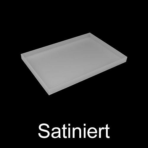 Satiniert