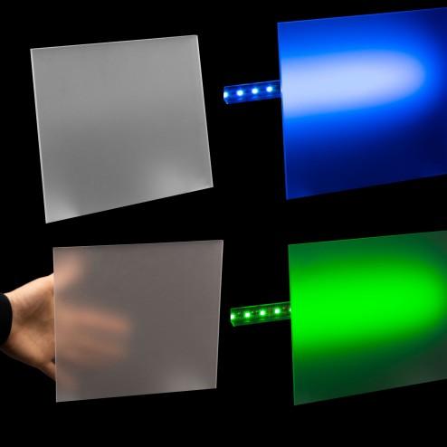 Acrylglas GS beidseitig Satiniert farblos 3mm Zuschnitt Platte Wunschmaß LED Beleuchtung collage- Grünke®
