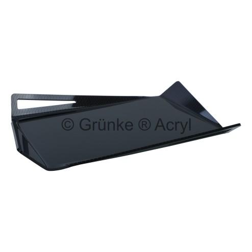 Grünke Design Acrylglas Tablett Schwarz