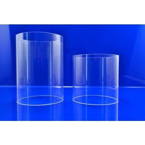 Acrylglas Rohre  50-150mm farblos klar 02 Grünke Acryl