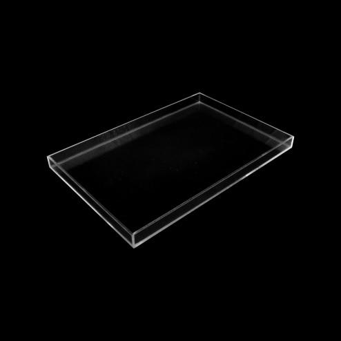 Deko Tablett farblos quadratisch 40cm x 40cm - Grünke Acryl -acrylic-store.de