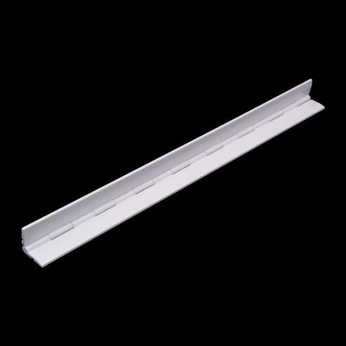 Klavierscharnier Scharnier aus Acrylglas Weiß - 01