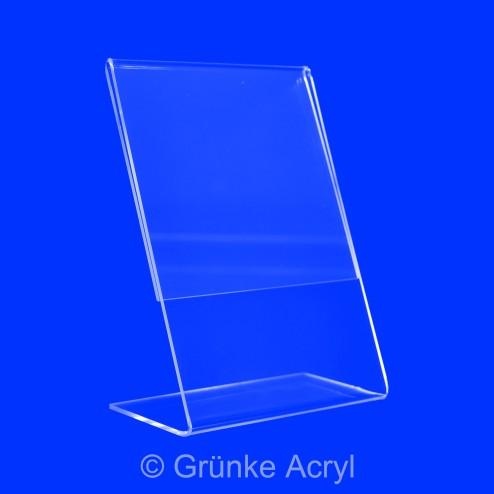 Preisaufsteller L Aufstelelr A5 Hochformat frontansicht - acrylic-store