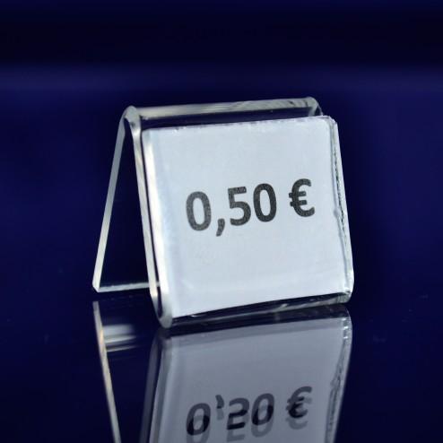 Preisaufsteller Makro aus Acrylglas - Plexi Grünke