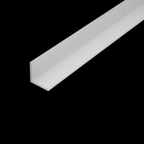 Acrylglas Winkelleiste für LED Weiß - Winkelprofil Grünke acrylic-store.de