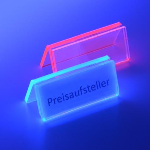 Preisaufsteller N Fluoreszierend  Rot Blau - acrylic-store.de