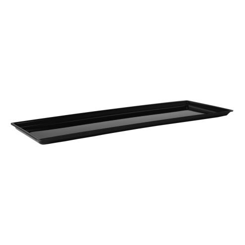 Acrylglas Tablett schwarz Grünke 30x80