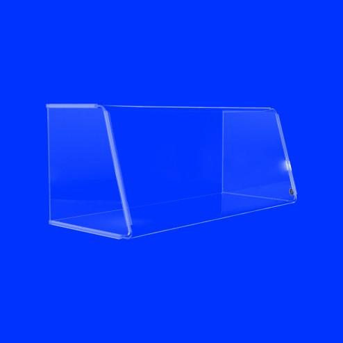 Hustenschutz Nr.4 SG seitlich geschlossen Thekenaufsatz aus Acrylglas- Originial Grünke