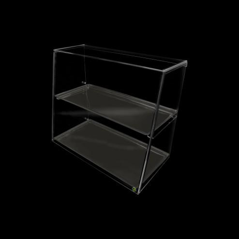 Niessschutz steckbar ohne Verkaufs Tablett Grünke® Acryl Acrylglas SEO System Easy One 50 cmHoch