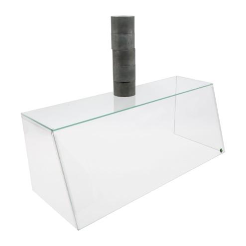 Spuckschutz SEO - aus ESG Glas und Acryl 62cm 82cm 102cm