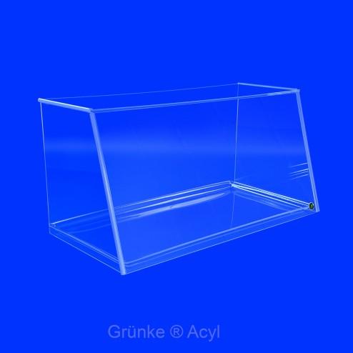 Nisschutz von Grünke ® Acryl SEO platzsparend steckbar von Grünke ® Acryl System Easy One 102cm Breite Verkaufstablett farblos - acrylic-store.de
