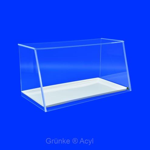 Spuckschutz SEO System Easy One - aus Acrylglas mti weißem Tablett Frontansicht Grünke Acryl 62cm