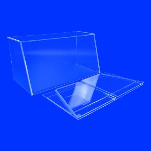 Faltbarer Spuckschutz und Hustenschutz - Steck System Frontansicht Grünke® Acryl Acrylglas SEO System Easy One Nr. 8