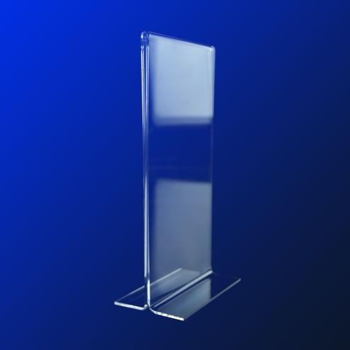 T Aufsteller aus Acrylglas DIN Lang Hochformat Grünke® Acryl 01