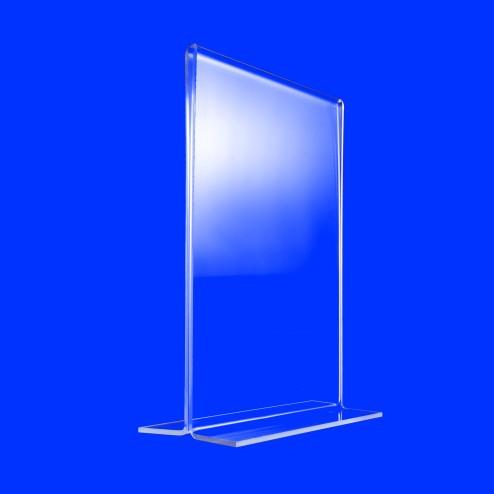 T Aufsteller aus Acrylglas Plexiglas Prospektständer Flyerhalter