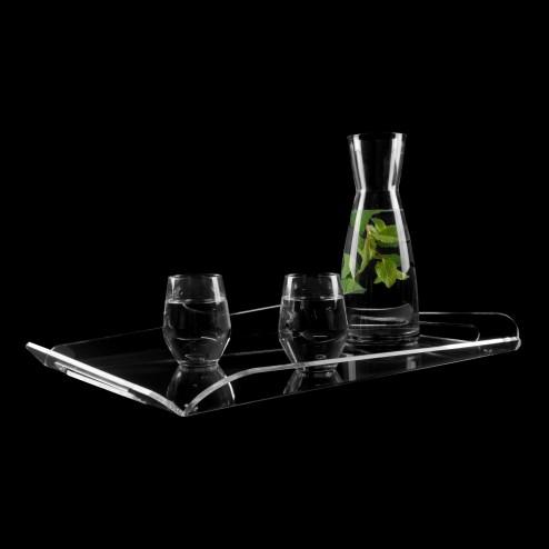 Original Grünke® Acryl design Tablett Asymetrisch neu 30cm x 45cm -  Acrylic-store.de