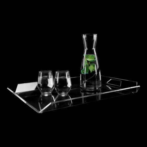 Grünke® design Tray Euphoria 30cm x 45xm Plexiglas farblos viereckig - Acrylic-store.de
