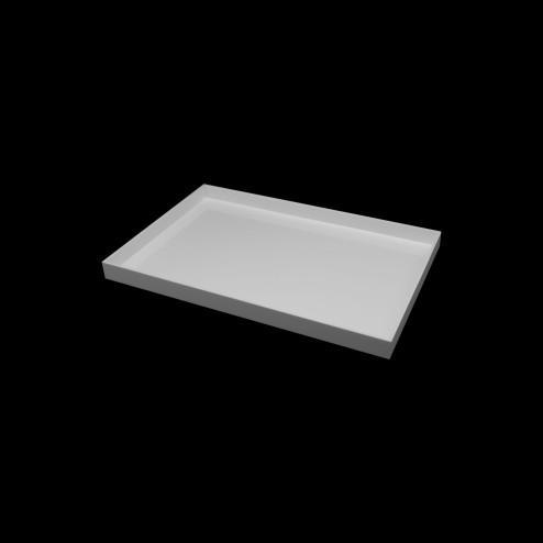 Tablett Weiß Acrylglas Bild 220cm x 30cm Original von Grünke® Acryl -acrylic-store.de