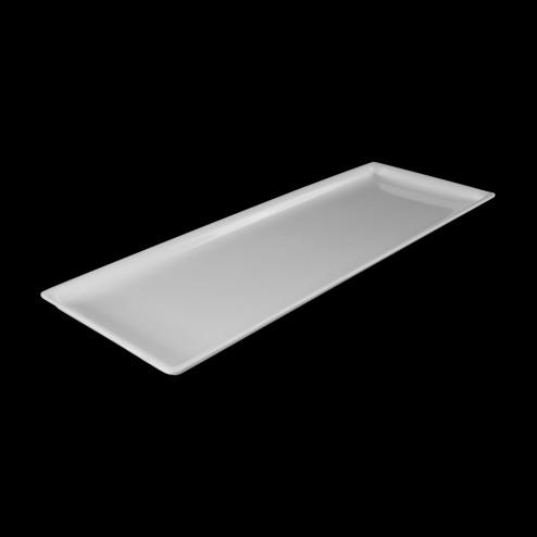 Tablett für den Verkauf Verkaufstablett aus Acrylglas in Weiß Hochglänzend 20cm x 100cm 01