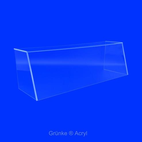 Tisch und Verkaufsaufsatz SEO System Easy One Spuckschutz Wunschbreite Frontansicht Wide Grünke Acryl