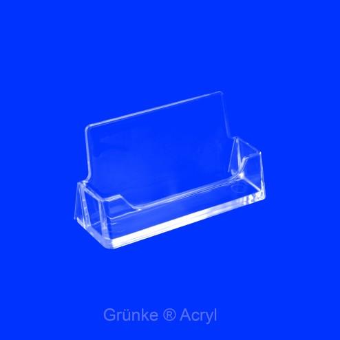 Halter für Visitenkarten von Grünke® Acrylglas farblos klar - acrylic-store.de
