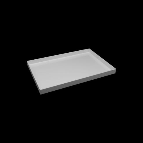 Deko Tablett seitliches Profil Weiß Acrylglas 20cm x 60cm original von Grünke® Acryl -acrylic-store.de