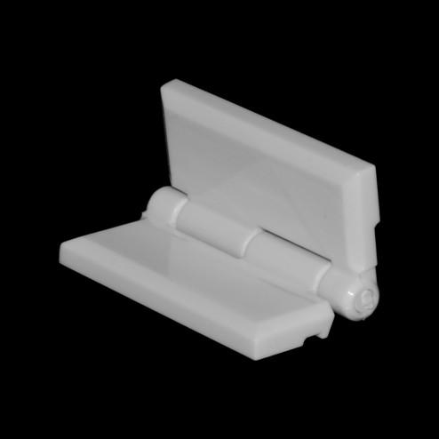 Acrylglas Scharnier weiß - aufgestellt Grünke® Acryl - acrylic-store.de