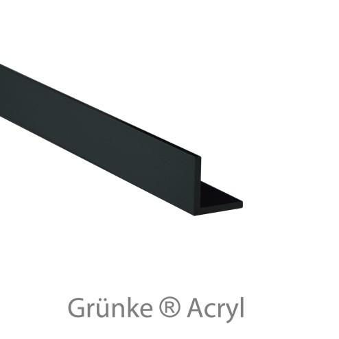 Winkelprofil Acrylglas schwarz glänzend 25x25 Wunschlänge black Grünke Acryl