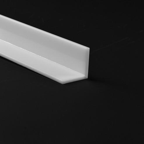 Winkelprofil Acrylglas weiß glänzend 25x25 Wunschlänge withe Grünke Acryl