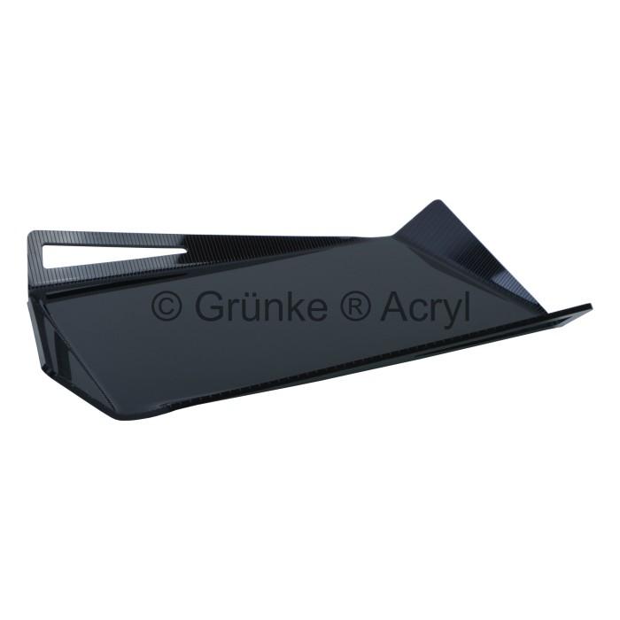 gr nke acryl design tablett schale aus acrylglas in schwarz acrylic store. Black Bedroom Furniture Sets. Home Design Ideas