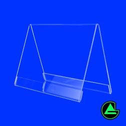 Dachaufsteller A6 Querformat aus Acrylglas - Tischaufsteller