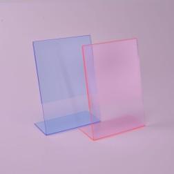 L Aufsteller fluoreszierend Rot oder Blau - L Ständer Flouri