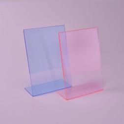 L Aufsteller fluoreszierend - L Ständer Flouri (Fluoreszierend Rot)