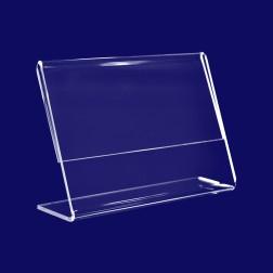 L Aufsteller aus Acrylglas in A6 Querformat