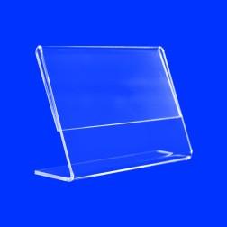 L Aufsteller aus Acrylglas in A3 Querformat Werbe Ständer Display