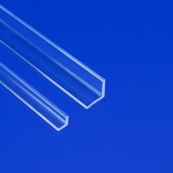 Gleichschenkliges Winkelprofil aus Acrylglas farblos klar (Wunschmaße) Zuschnitt Stange 10mm & 20mm
