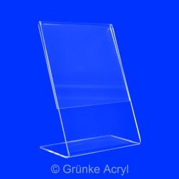 L Aufsteller aus Acrylglas in A7 Hochformat