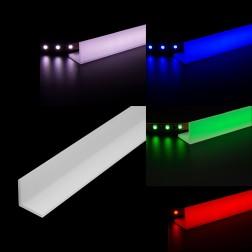 LED Abdeckleiste Winkelleiste Acrylglas opal satiniert 100x50 (Wunschlänge) L Leiste