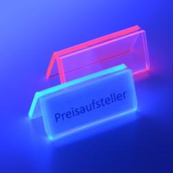 Preisaufsteller N fluoreszierend Rot oder Blau VE 10 Stück