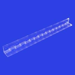 Grünke® Klavierscharnier aus Acrylglas farblos klar (Breite: 45mm) (Länge: 30,48cm)