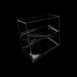 Grünke® Tisch & Verkaufsaufsatz Steckbarer Spuckschutz SEO 50 (Breite: 62cm) (Höhe: 50cm) mit Tablett