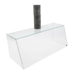 Grünke® Spuckschutz SEO - steckbar aus ESG-Glas & Acryl - Breite: 62cm 82cm 102cm