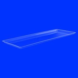 Bäckereichblech Tablett aus Acrylglas farblos, transparent 20cm x 60cm