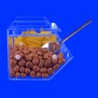 Süßigkeiten Verkaufsbox für Kiosk Nr.2 Original von Grünke® Acryl Banane seitenansicht- Grünke® Acryl