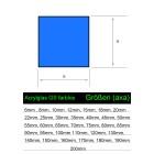 Acrylglas GS Vierkantstab Profil 100x100 Wunschlänge - Zeichnung